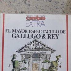 Collezionismo di Rivista Cambio 16: CAMBIO 16 EXTRA LOS MONCLIS EL MAYOR ESPECTACULO DE GALLEGO Y REY. 28 MARZO 1988. Lote 225553840