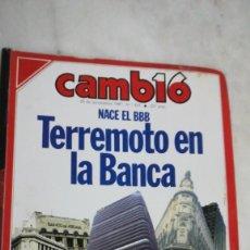 Coleccionismo de Revista Cambio 16: CAMBIO 16, TERREMOTO EN LA BANCA, NACE EL BBB, AÑO 1987. Lote 225841863