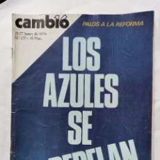 Coleccionismo de Revista Cambio 16: REVISTA CAMBIO 16 N 237 1976. Lote 226149135