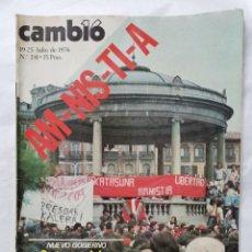 Coleccionismo de Revista Cambio 16: REVISTA CAMBIO 16 N 241 JULIO 1976 MANIFESTACIÓN PAMPLONA. Lote 226149785