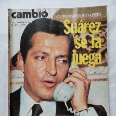 Coleccionismo de Revista Cambio 16: REVISTA CAMBIO 16 N 255 OCTUBRE 1976 JUAN CARLOS. Lote 226154570