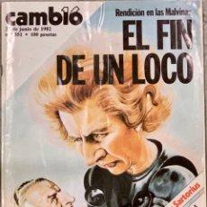 Coleccionismo de Revista Cambio 16: CAMBIO16. Nº 551. 21 JUNIO 1982.. Lote 226281096