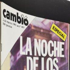 Coleccionismo de Revista Cambio 16: REVISTA CAMBIO 16 Nº 483 MARZO 1981 - ESPECIAL LA NOCHE DE LOS TRICORNIOS. Lote 226621200
