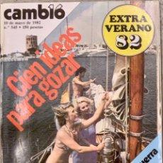 Coleccionismo de Revista Cambio 16: CAMBIO16. Nº 545. 10 MAYO 1982.. Lote 227707625