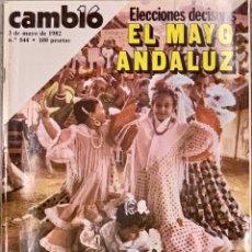 Coleccionismo de Revista Cambio 16: CAMBIO16. Nº 544. 3 MAYO 1982.. Lote 227850445