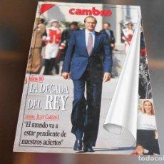 Coleccionismo de Revista Cambio 16: CAMBIO 16 - AÑOS 80, LA DECADA DEL REY -. 22 DE ENERO DE 1990 REVISTA DE 98 PÁGINAS DE 21 X 28,5 CMS. Lote 227971880