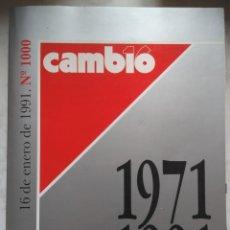 Coleccionismo de Revista Cambio 16: REVISTA CAMB16: Nº 1000, 1971-1991 . AÑO 1991. Lote 230895855