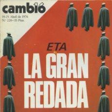 Collectionnisme de Magazine Cambio 16: REVISTA CAMBIO 16. 19-25 ABRIL DE 1976. Nº 228. PP. 82. Lote 233729955