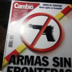 Coleccionismo de Revista Cambio 16: REVISTA CAMBIO16 N° 1527 . 12 MARZO 2001. ARMAS SIN FRONTERAS . ESPAÑA VENDE MATERIAL BELICO. Lote 235322275