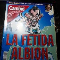 Coleccionismo de Revista Cambio 16: REVISTA CAMBIO16 N° 1530 .2 ABRIL 2001 LA FETIDA ALBION .INTELECTUALES CONTRA LEY DE EXTRANJERIA. Lote 235326120