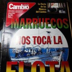 Coleccionismo de Revista Cambio 16: REVISTA CAMBIO16 N° 1531. 9 ABRIL 2001. MARRUECOS NOS TOCA LA FLOTA .. Lote 235328200