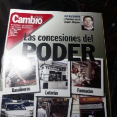 Coleccionismo de Revista Cambio 16: REVISTA CAMBIO16 N° 1535 . 7 MAYO 2001. LAS CONCESIONES DEL PODER .LEY DE UNIVERSIDADES. Lote 235334415