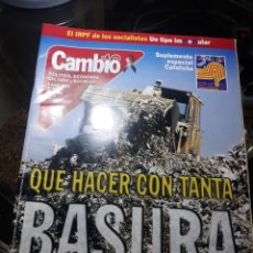 Coleccionismo de Revista Cambio 16: REVISTA CAMBIO16 N° 1539 4 JUNIO 2001 . QUE HACER CON TANTA BASURA .. LOS OMEYAS .. Lote 235339555
