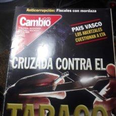 Coleccionismo de Revista Cambio 16: REVISTA CAMBIO16 N° 1542 .25 JUNIO 2001. CRUZADA CONTRA EL TABACO.. Lote 235342065