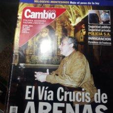 Coleccionismo de Revista Cambio 16: REVISTA CAMBIO16 N° 1544. 9 JULIO 2001. EL VIA CRUCIS DE ARENAS..SECRETARIO GENERAL DEL PP.. Lote 235343265