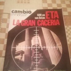 Coleccionismo de Revista Cambio 16: CAMBIO 16.Nº 521.23 NOVIEMBRE 1981.ETA LA GRAN CACERIA.SANCHO ROF.ESPAÑA OTAN.. Lote 236264090