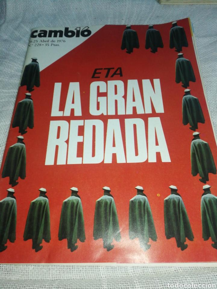 REVISTA CAMBIO 16, AÑO 1976,ETA, LA GRAN REDADA. (Coleccionismo - Revistas y Periódicos Modernos (a partir de 1.940) - Revista Cambio 16)