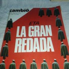 Coleccionismo de Revista Cambio 16: REVISTA CAMBIO 16, AÑO 1976,ETA, LA GRAN REDADA.. Lote 237378045