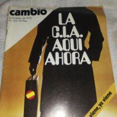Coleccionismo de Revista Cambio 16: REVISTA CAMBIO 16,AÑO 1976, LA CIA AQUÍ, AHORA. .. Lote 237380440