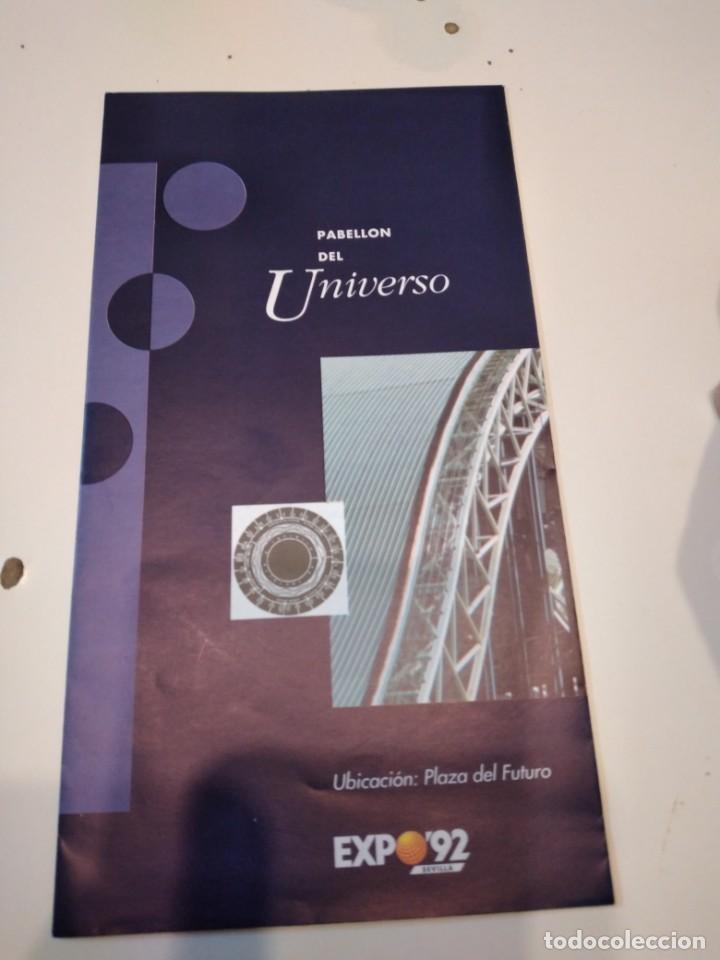 C-VIC EXPO 92 FOLLETO PABELLON DEL UNIVERSO (Coleccionismo - Revistas y Periódicos Modernos (a partir de 1.940) - Revista Cambio 16)