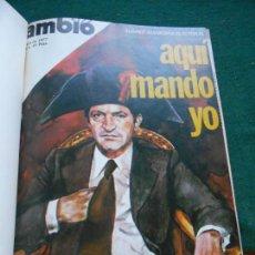 Coleccionismo de Revista Cambio 16: LOTE REVISTAS ENCUADERNADAS DE CAMBIO 16 DE ABRIL A JUNIO DE 1977. Lote 243352600
