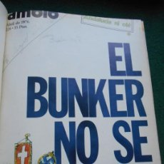 Coleccionismo de Revista Cambio 16: LOTE REVISTAS ENCUADERNADAS DE CAMBIO DEL 5 DE ABRIL AL 27 JUNIO DE 1976. Lote 243353820