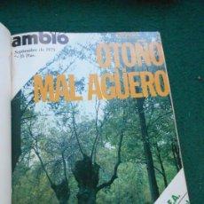 Coleccionismo de Revista Cambio 16: LOTE REVISTAS ENCUADERNADAS DE CAMBIO DEL 15 DE SEPTIEMBRE AL 2 DE NOVIEMBRE DE 1975. Lote 243361405