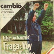 Colecionismo da Revista Cambio 16: CAMBIO 16 Nº 669 DEL 1-10-1984. Lote 243625595