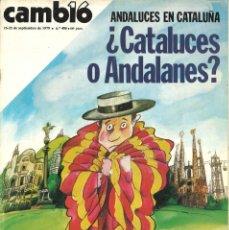 Coleccionismo de Revista Cambio 16: CAMBIO 16. 406. SEPTIEMBRE 1979. ANDALUCES EN CATALUÑA. Lote 243841505