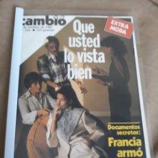 Coleccionismo de Revista Cambio 16: REVISTA 1981 FRANCIA ARMÓ A ETA - CEUTA Y MELILLA - DE LA HOJA AL TANGA.. Lote 244536345