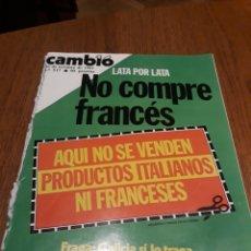 Coleccionismo de Revista Cambio 16: REVISTA CAMBIO16 N°517 AÑO 1981. REPORTAJES DE PICASSO Y LA FÓRMULA 1 . NUMEROSAS FOTOS. Lote 245244135