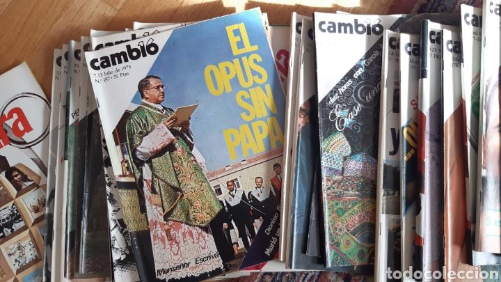 Coleccionismo de Revista Cambio 16: 44 números de Revista Cambio 16 año 1975 - Foto 2 - 245558895