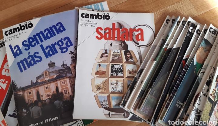 Coleccionismo de Revista Cambio 16: 44 números de Revista Cambio 16 año 1975 - Foto 3 - 245558895