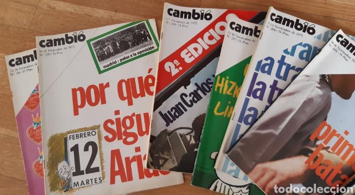 Coleccionismo de Revista Cambio 16: 44 números de Revista Cambio 16 año 1975 - Foto 4 - 245558895