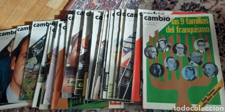 Coleccionismo de Revista Cambio 16: 44 números de Revista Cambio 16 año 1975 - Foto 6 - 245558895