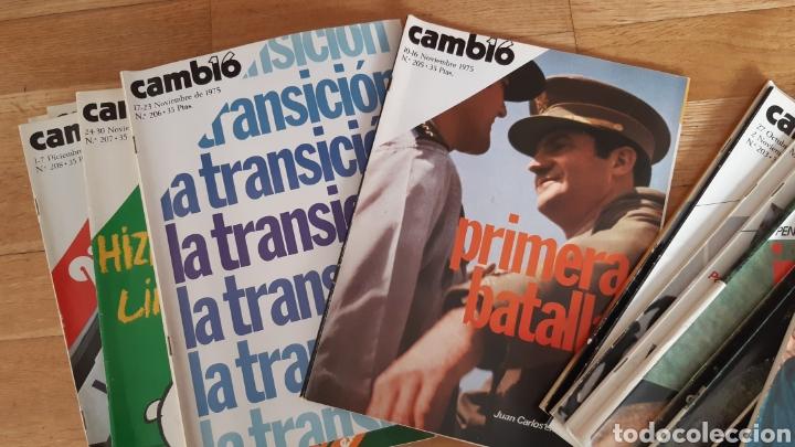 44 NÚMEROS DE REVISTA CAMBIO 16 AÑO 1975 (Coleccionismo - Revistas y Periódicos Modernos (a partir de 1.940) - Revista Cambio 16)