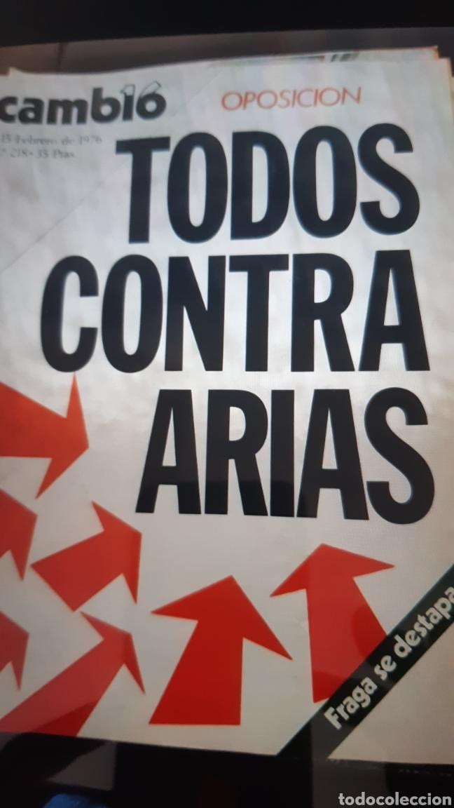 Coleccionismo de Revista Cambio 16: 32 ejemplares Revista Cambio 16 año 1976 - Foto 3 - 245561245