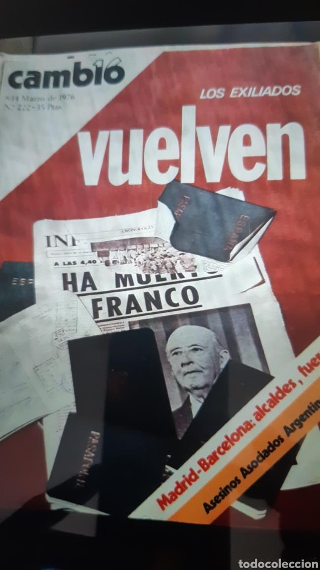 Coleccionismo de Revista Cambio 16: 32 ejemplares Revista Cambio 16 año 1976 - Foto 5 - 245561245