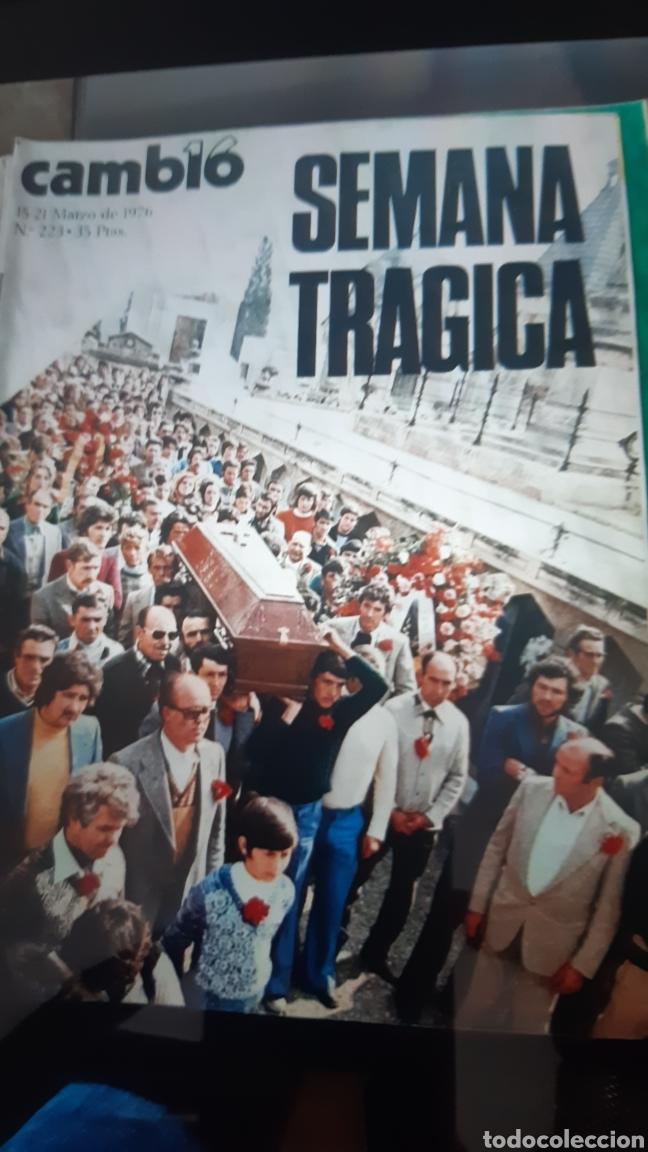 Coleccionismo de Revista Cambio 16: 32 ejemplares Revista Cambio 16 año 1976 - Foto 6 - 245561245