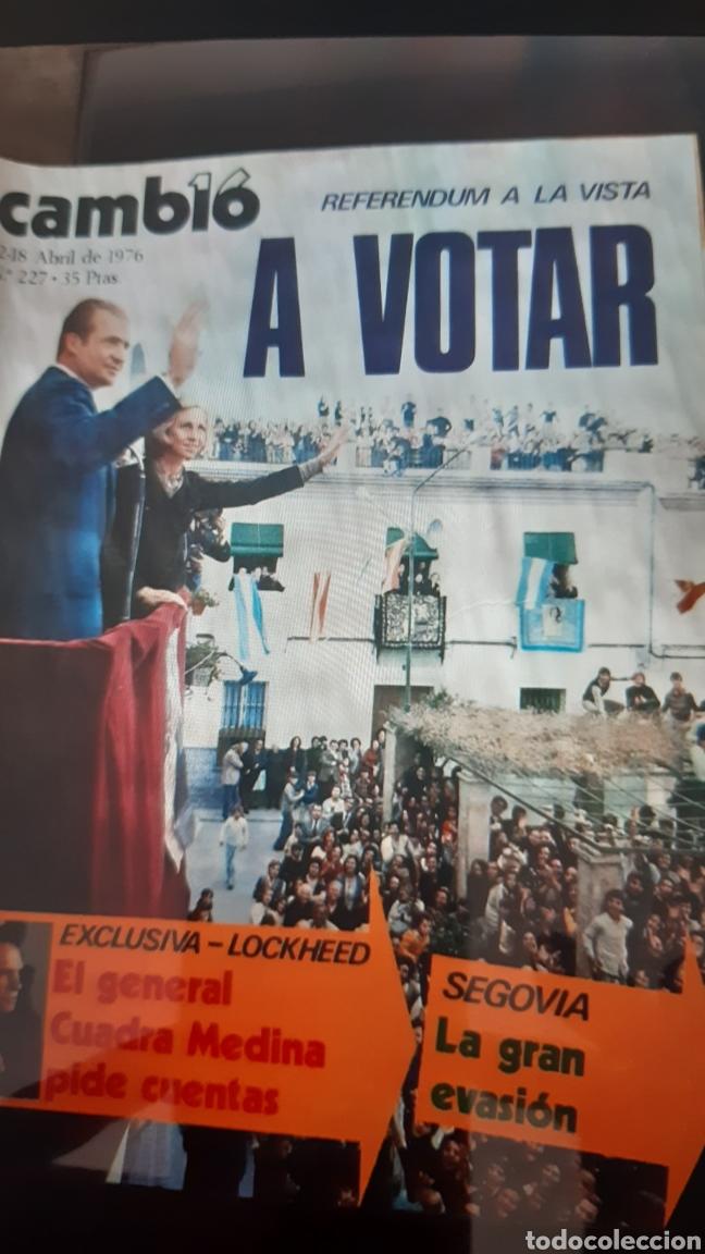 Coleccionismo de Revista Cambio 16: 32 ejemplares Revista Cambio 16 año 1976 - Foto 8 - 245561245