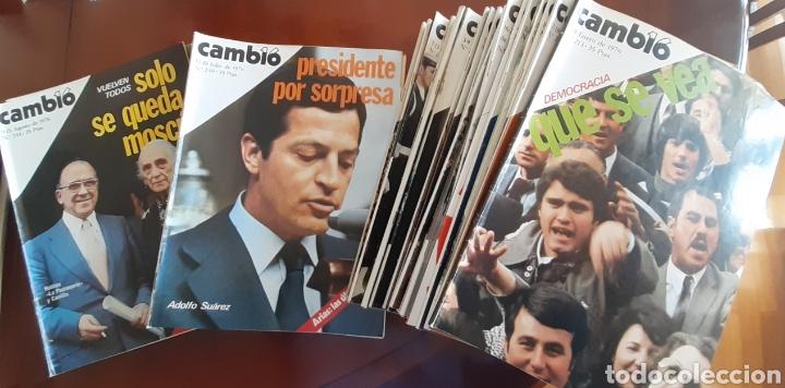 32 EJEMPLARES REVISTA CAMBIO 16 AÑO 1976 (Coleccionismo - Revistas y Periódicos Modernos (a partir de 1.940) - Revista Cambio 16)