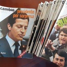 Coleccionismo de Revista Cambio 16: REVISTA CAMBIO 16 AÑO 1976. Lote 245561245