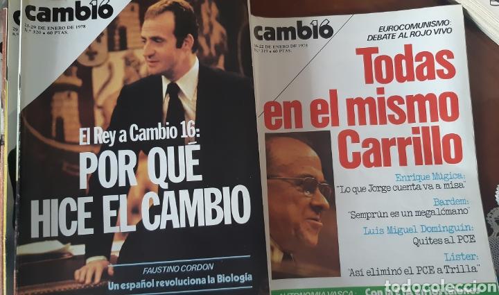 Coleccionismo de Revista Cambio 16: 12 ejemplares Revista Cambio 16 año 1978 - Foto 2 - 245562785