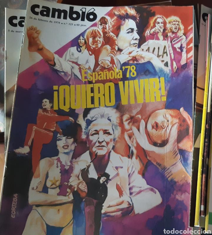 12 EJEMPLARES REVISTA CAMBIO 16 AÑO 1978 (Coleccionismo - Revistas y Periódicos Modernos (a partir de 1.940) - Revista Cambio 16)