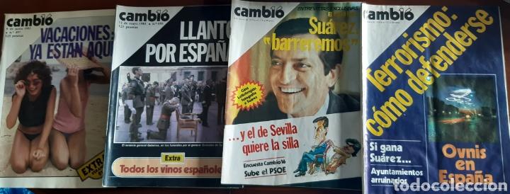 4 EJEMPLARES REVISTA CAMBIO 16 AÑOS 1979 Y 1981 (Coleccionismo - Revistas y Periódicos Modernos (a partir de 1.940) - Revista Cambio 16)