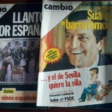Coleccionismo de Revista Cambio 16: REVISTA CAMBIO 16 AÑOS 1979 Y 1981. Lote 245563285