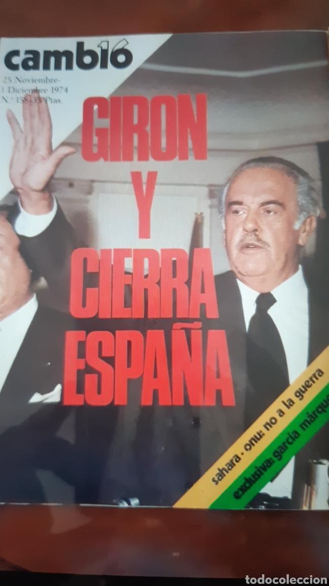 Coleccionismo de Revista Cambio 16: 5 ejemplares Revista Cambio 16 año 1974 - Foto 2 - 245564130