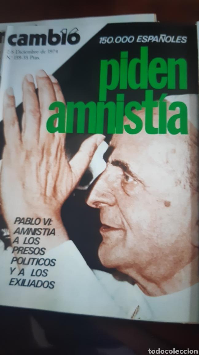 Coleccionismo de Revista Cambio 16: 5 ejemplares Revista Cambio 16 año 1974 - Foto 3 - 245564130
