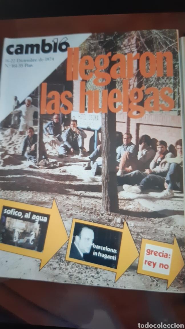Coleccionismo de Revista Cambio 16: 5 ejemplares Revista Cambio 16 año 1974 - Foto 5 - 245564130