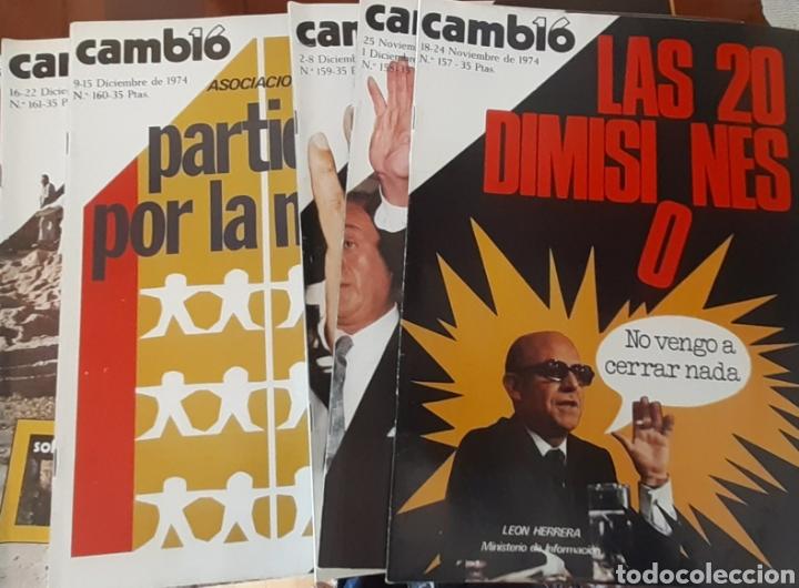 5 EJEMPLARES REVISTA CAMBIO 16 AÑO 1974 (Coleccionismo - Revistas y Periódicos Modernos (a partir de 1.940) - Revista Cambio 16)